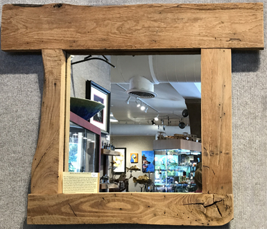 Chestnut reclaimed wood mirror