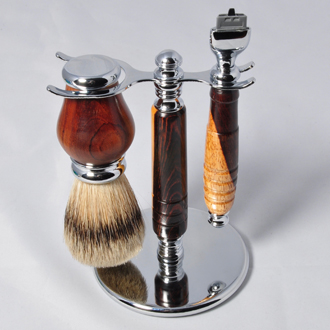 Razor Handle and Bader Brush Set