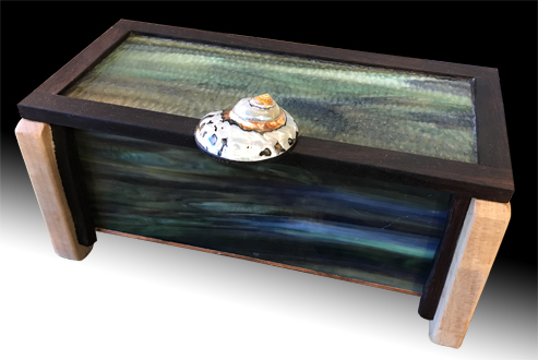 Glass and wood box